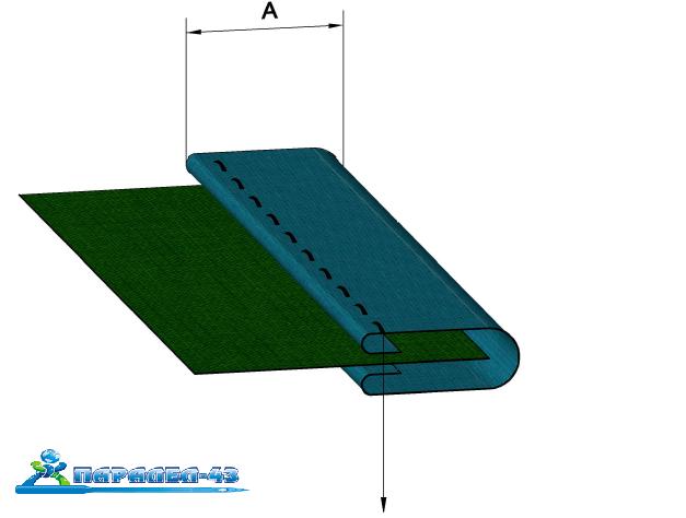 схема за продукт Водач за двойно подгънато бие за покривни машини