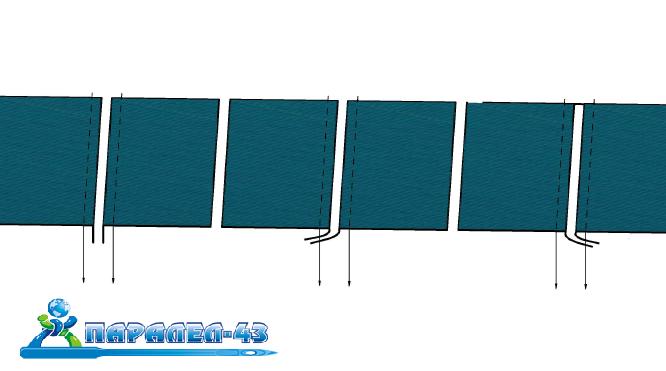 схема за продукт Водач за лицев тегел за покривни машини