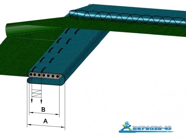 схема за продукт Водач за двойно прегънато бие с ластик за покривни машини
