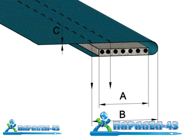 product scheme Attachment for simultaneously folding and threading of elastic
