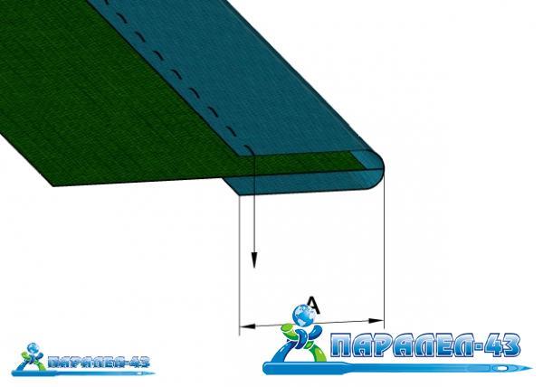 схема за продукт Водач за обточване за машини за кожа
