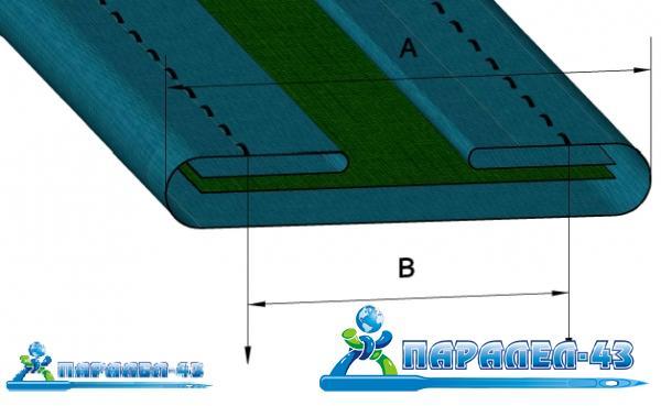 схема за продукт Фуния за изработване на гайки за прави (верижни) двуиглови машини