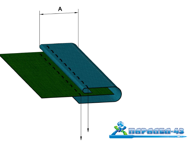 product scheme Standard applied welt attachment for applied welt or double coverstitch sewing machines