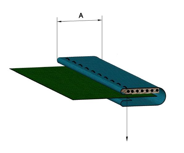 схема за продукт Фуния за обточване на плосък ластик