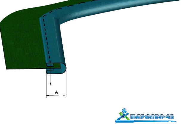 схема за продукт Фуния за обточване с веревна лента за права машина