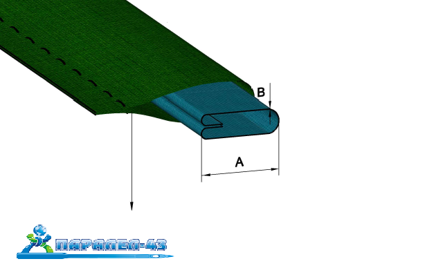 product scheme Attachment used to simultaneously sew on a turn around a belt loop