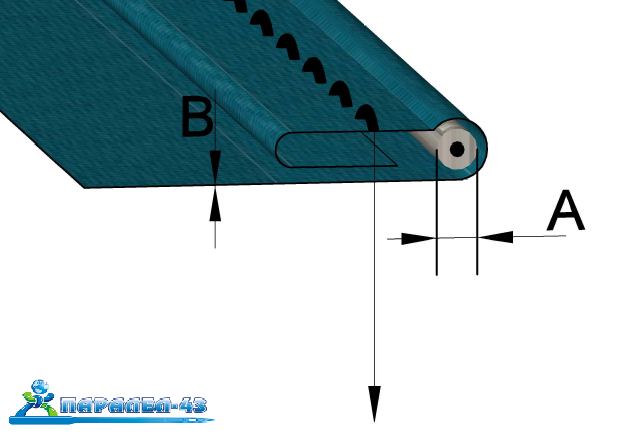 схема за продукт Водач за подгъв и вкарване на шнур за тежки машини