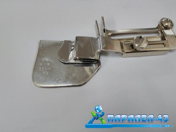 Double hem funnel attachment for straight stitch sewing machines