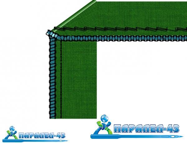 схема за продукт За вкарване на допълнителна лента в уплетката на 5-конечни оверлози