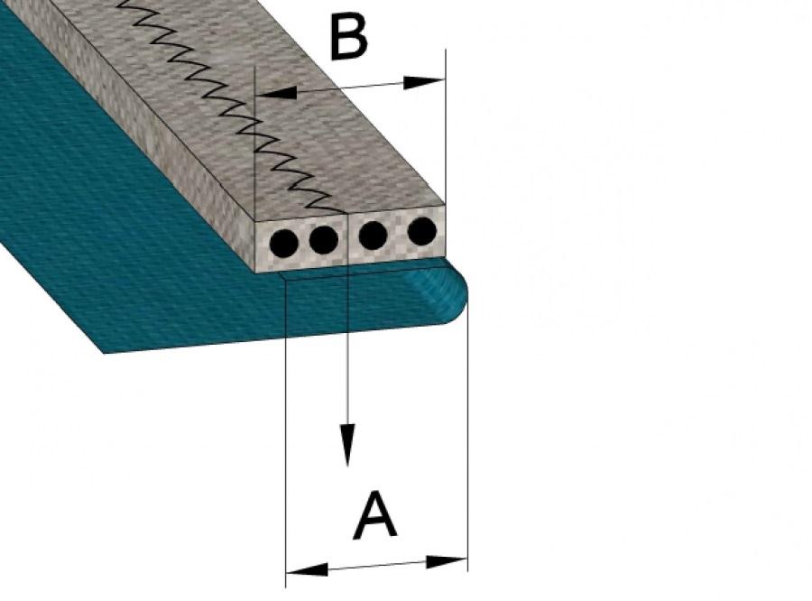 схема за продукт Гарнитура за прикачване на ластик за зиг-заг и трибод