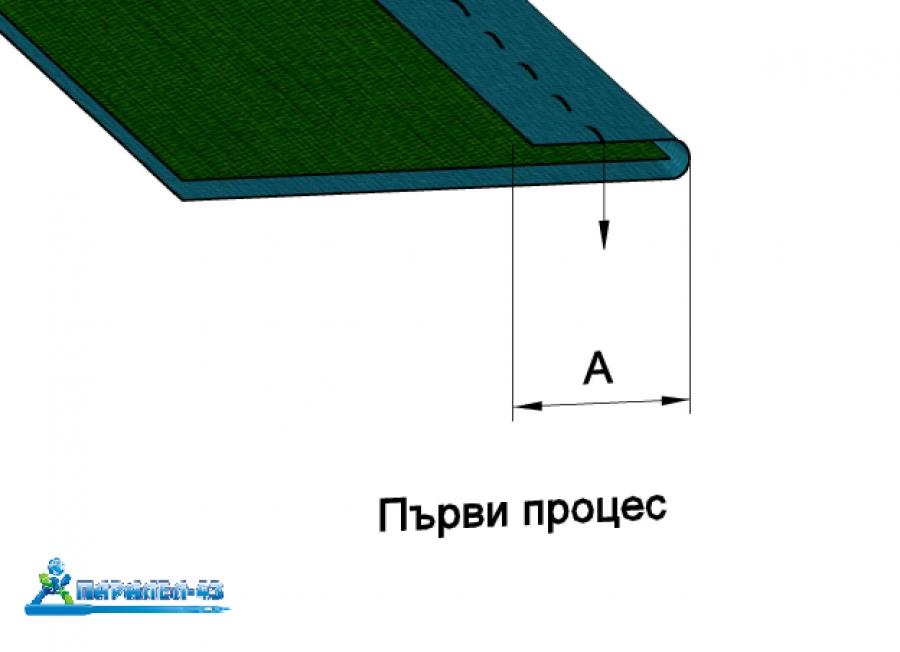 схема за продукт Водач за двойно подгъване (френски шев)